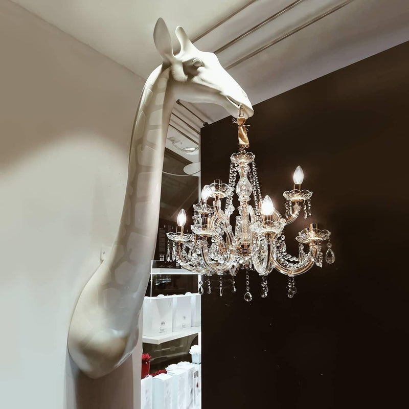 White Giraffe in Love Wall Lamp