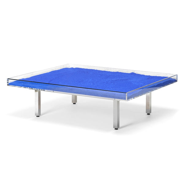 "Yves Klein Blue ""IKB"" Glass Table"