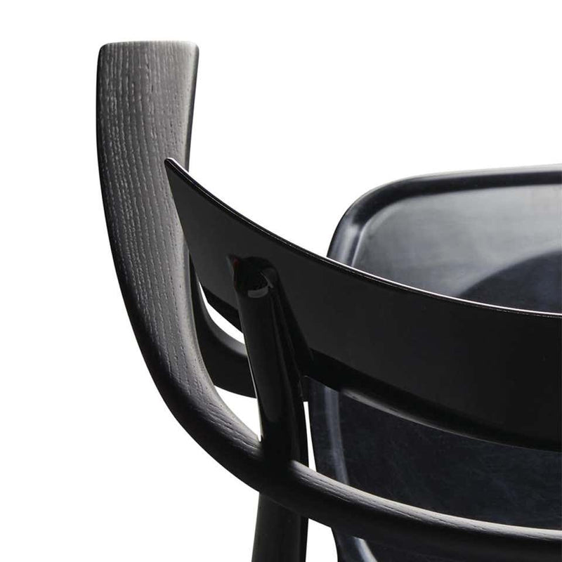 Milani, Glossy Black Polycarbonate Armchair