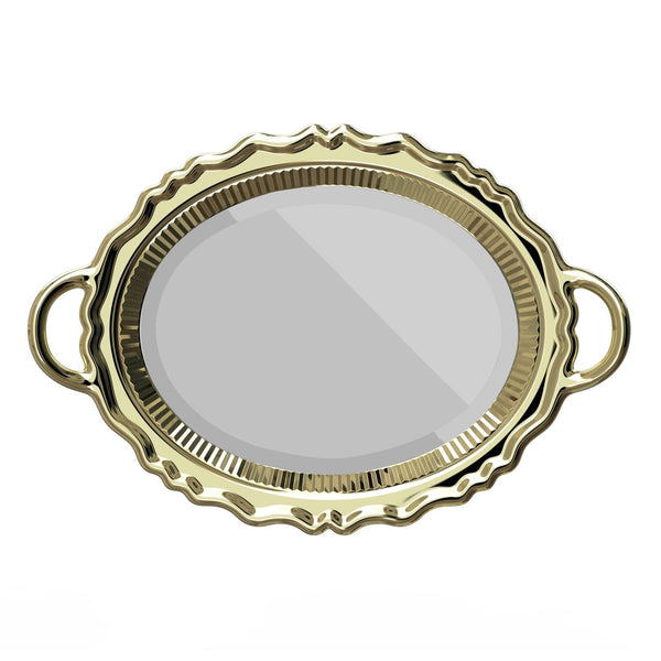 Gold Metal Finish Plateau Mirror