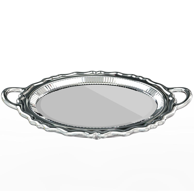 Silver Metal Finish Plateau Mirror
