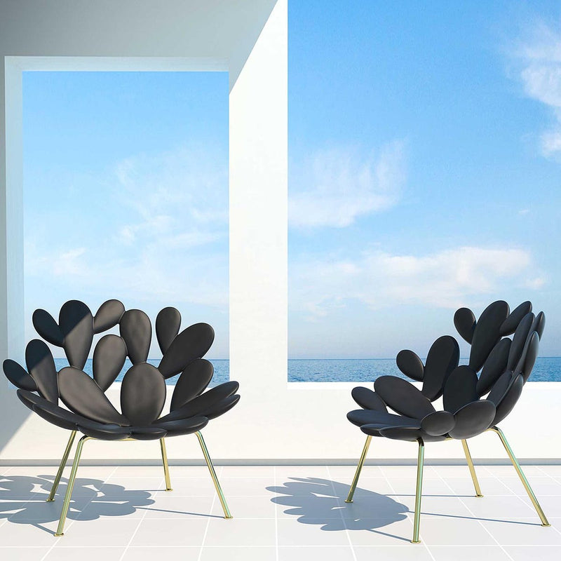 Black & Brass Outdoor Cactus Chair