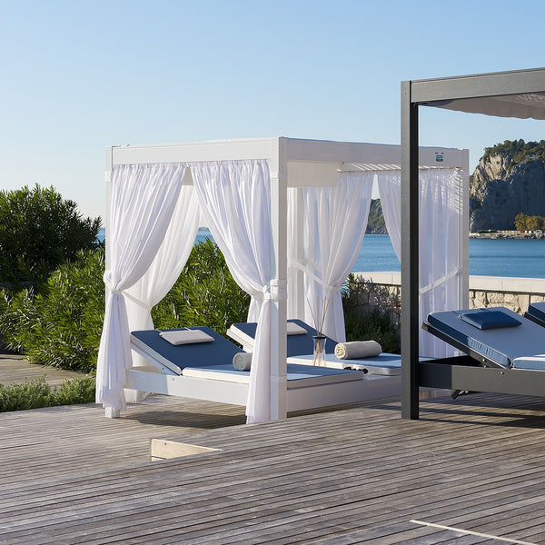 White Outdoor Cabana Daybed