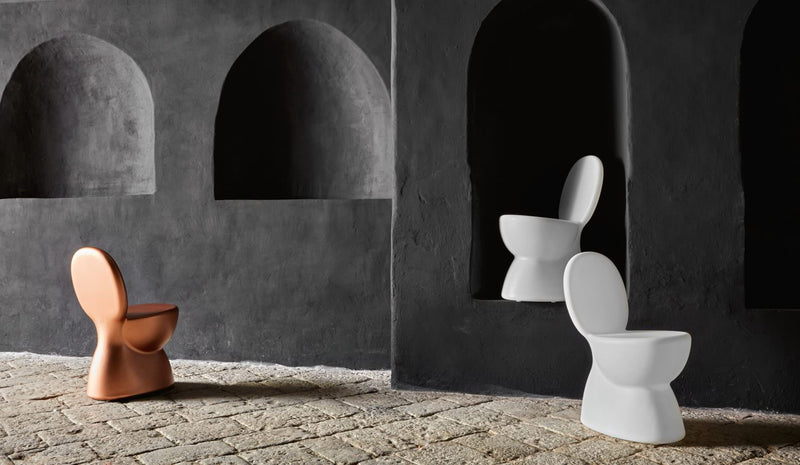 White Outdoor Toilet Seat Stool