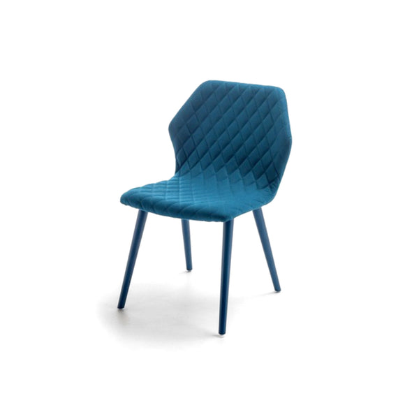 Blue Quilted Ava Chair