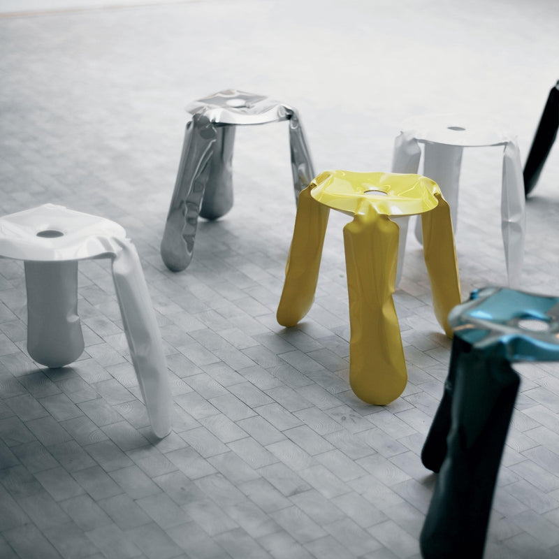 Limited Edition Stool in Polished Stainless Steel