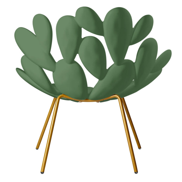 Green & Brass Outdoor Cactus Chair