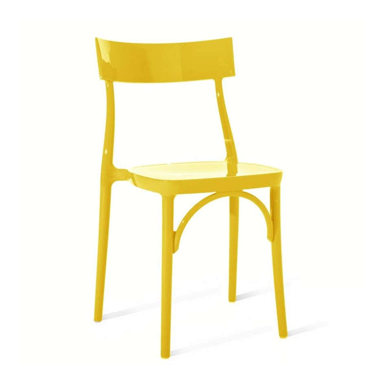 Milani, Glossy Yellow Polycarbonate Dining Chair