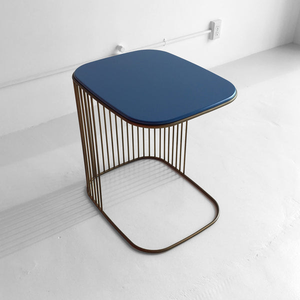 Comb Blue Frame Side Table