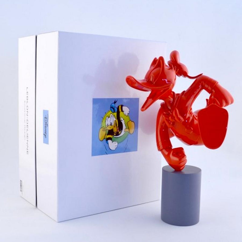 Donald Duck Monochrome Red Pop Sculpture Figurine