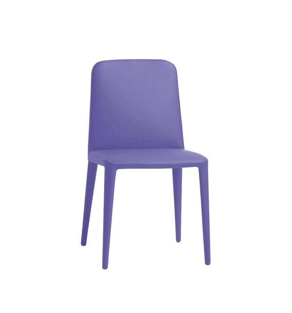 Elf Blue Leather Dining Chair