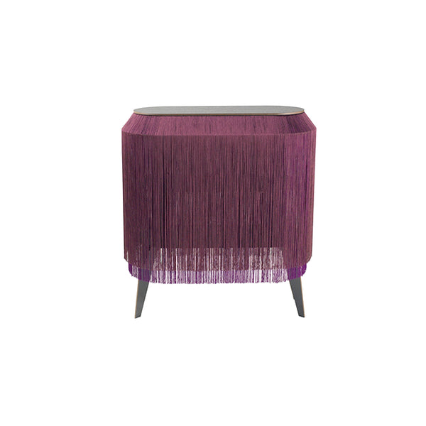 Bordeaux Fringe Side Table / Nighstand