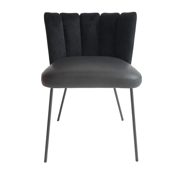 Black Gaia Velvet Dining Chair