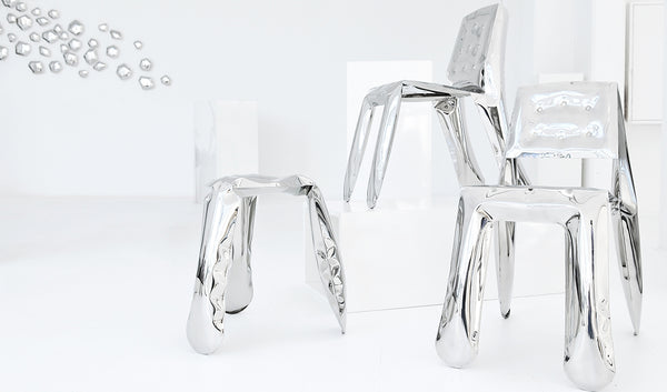 Limited Edition Stool in Glossy White Finish