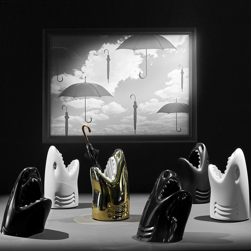 Killer Black Shark Umbrella Stand