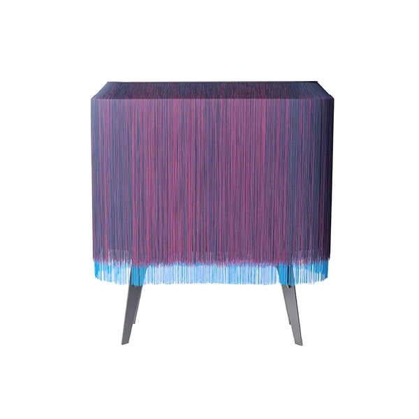 Blue Fringe Bar / Cabinet Large