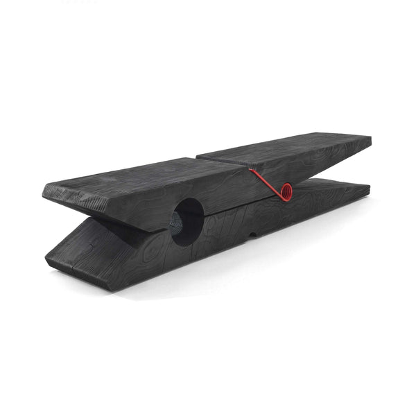 Black Molletta Cedar Vulcano Bench
