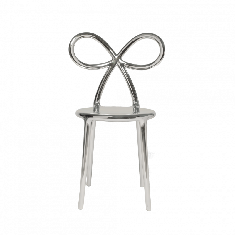 Ribbon chair silver