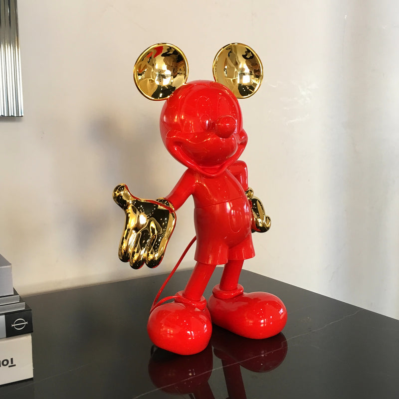 Mickey Bi-color Figurine Red & Gold