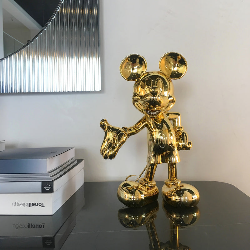 Mickey, Metallic Figurine Gold