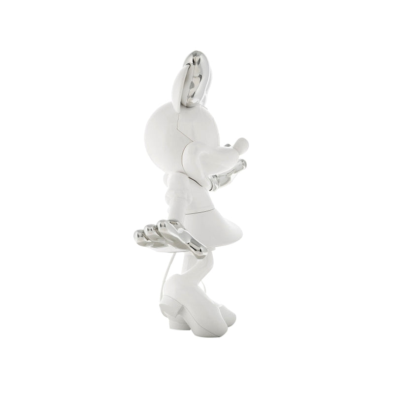 Minnie, Bi-color Figurine White & Silver