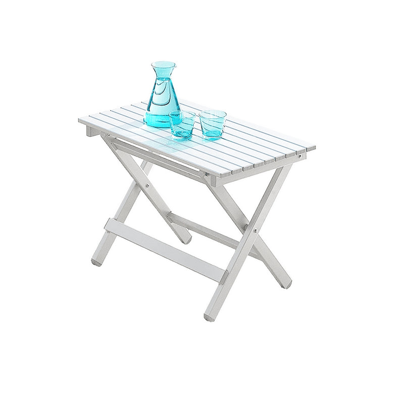 White Lacquer Aluminium Outdoor Folding Table