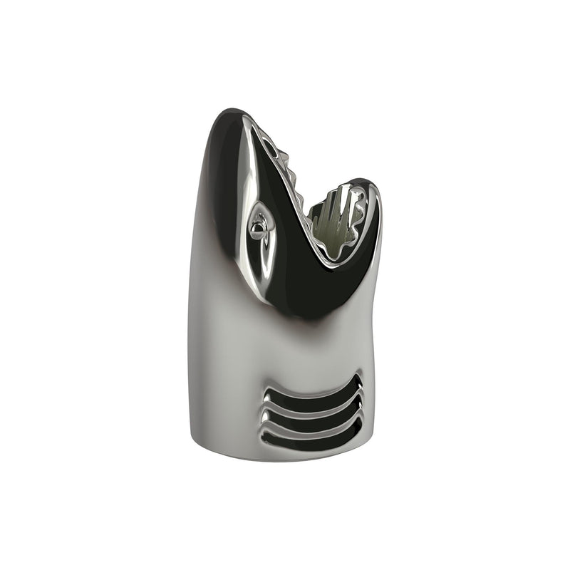 Killer Metallic Silver Shark Umbrella Stand