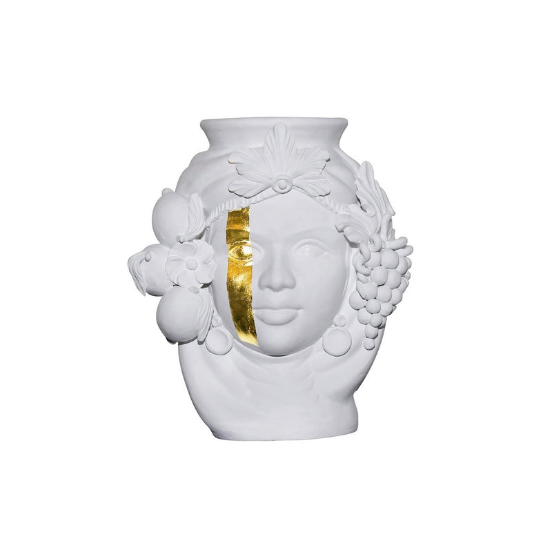 Ceci White & Gold vase