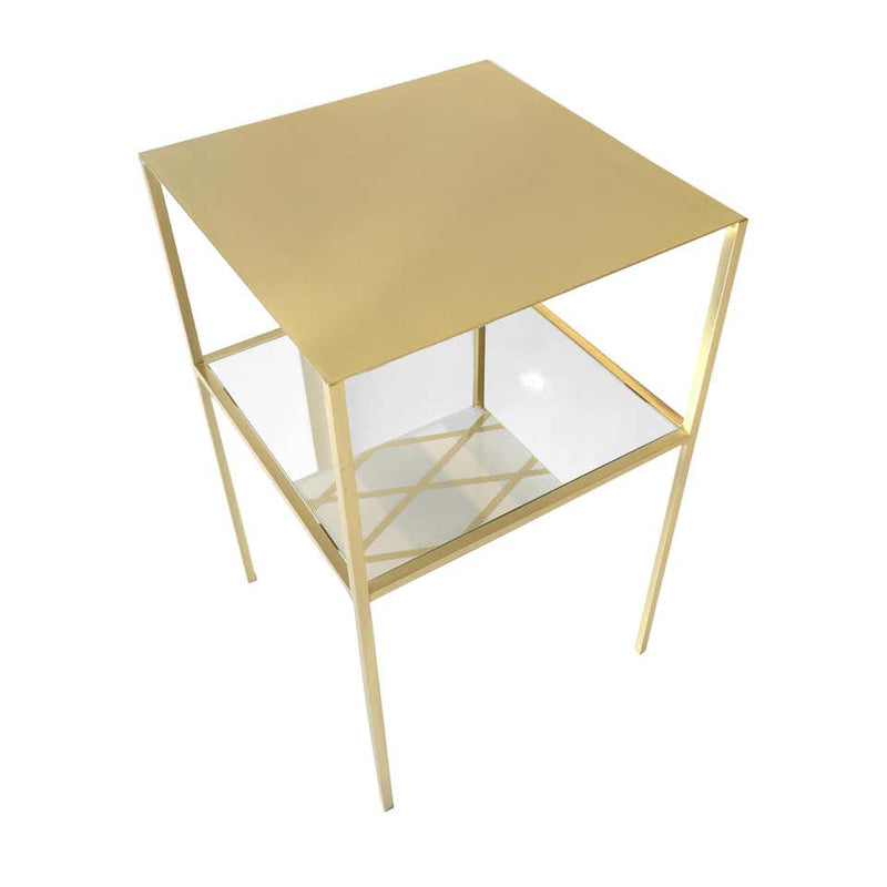 Tabu Square Gold and Brass Coffee Table