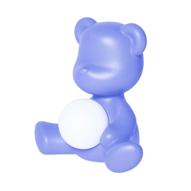 Blue Teddy Bear Lamp LED Rechargeable