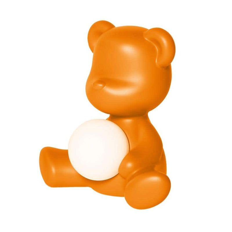 Orange Teddy Bear Lamp LED Rechargeable