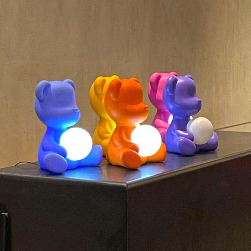 Pink Teddy Bear Lamp LED Rechargeable