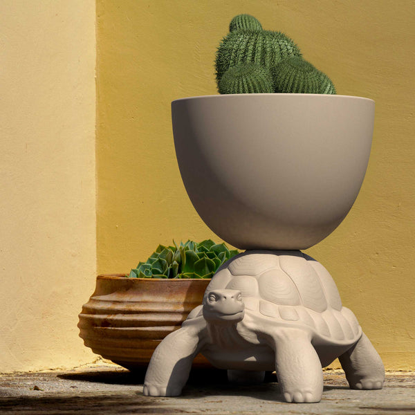 White Turtle Planter/Champagne Cooler