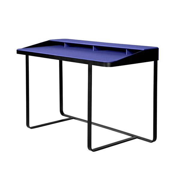 Twain Blue Leather Desk