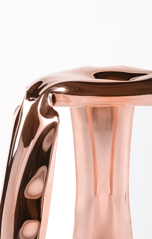 Limited Edition Chair in Rose Gold Steel Polished