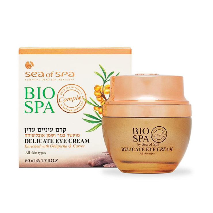 Creme de Olhos Delicado com Obliphica e Cenoura BIO SPA do Mar Morto