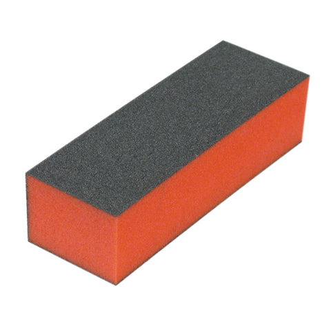 Hawley Nail File (1008) Black Block Buffer 3 Sided COURSE:100/180