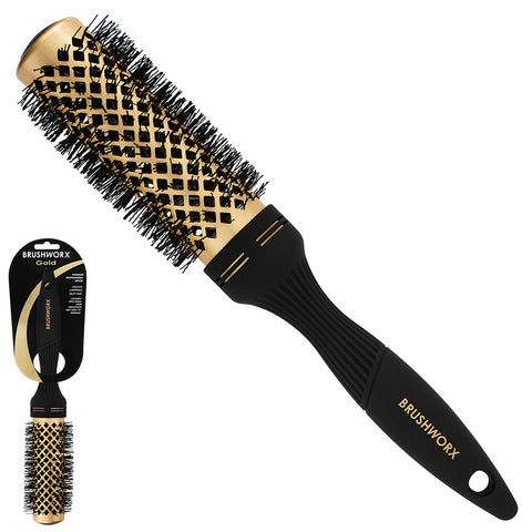 Brushworx Gold Ceramic Hot Tube Brush - Medium