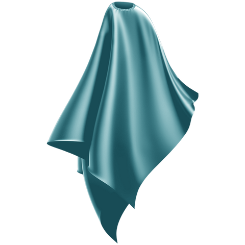 aqua  blue adult cutting cape