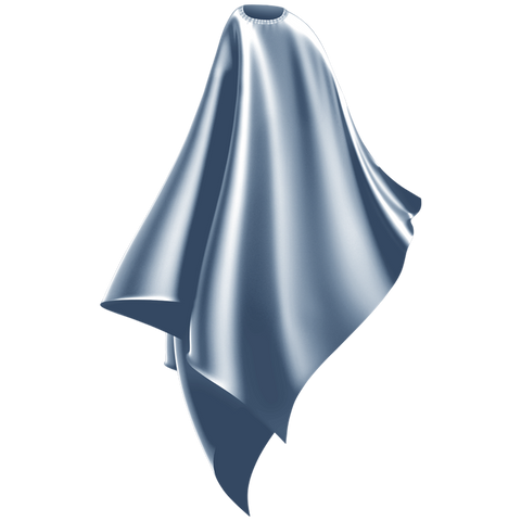 icey blue cutting cape adult