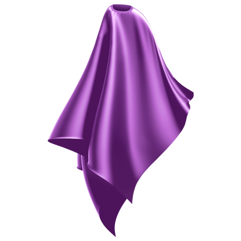 purple adult water resistant cutting cape
