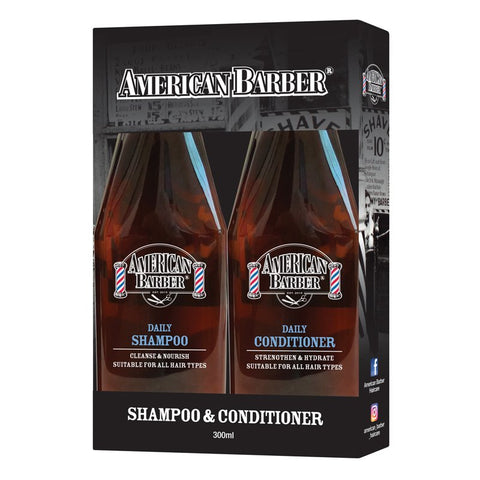 American Barber Daily Shamp/Cond 300ml Duo