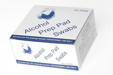 Alcohol Prep Pad Swabs 200pc