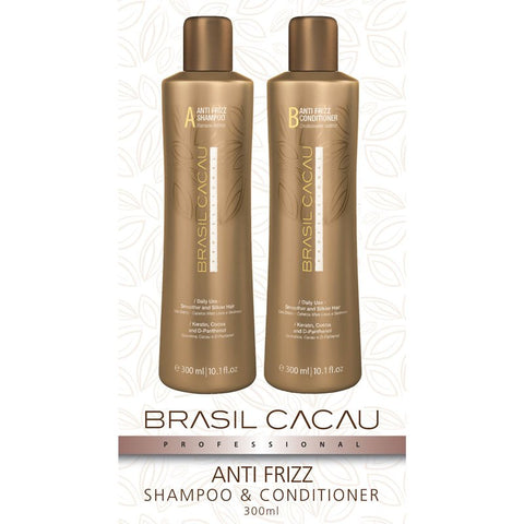Brasil Cacau Duo Pack Anti Frizz Shampoo & Conditioner 300ml