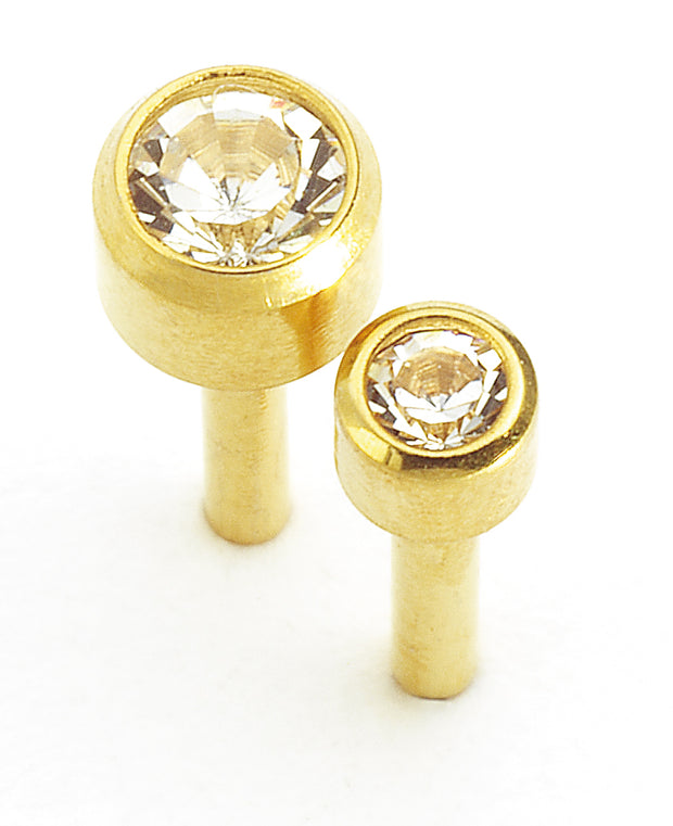 Caflon Gold Birthstone April (Crystal)