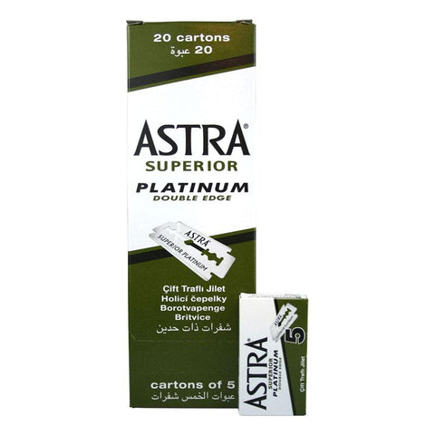 Astra Double Edge Razor Blades 100pcs (20 Packets of 5)
