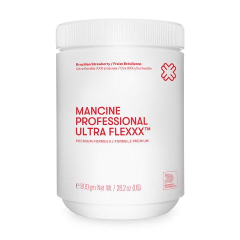 Mancine Professional Ultra Flexxx Brazilian Strawberry Strip Wax 800ml