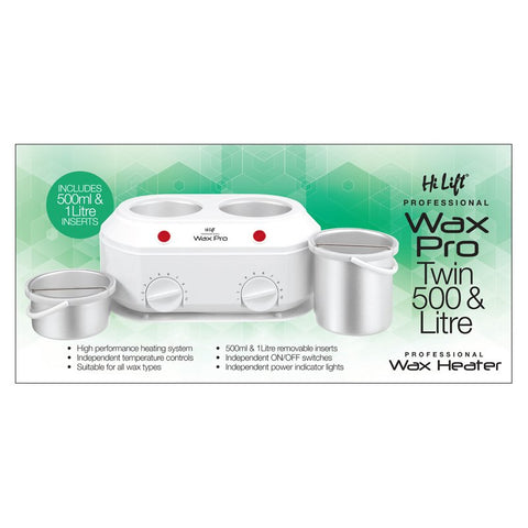 Hi Lift Twin Kompact Wax Pot 500ml & 1 Litre