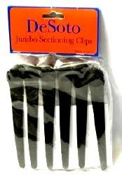 Jumbo Sectioning Clips Desoto Black 6pc