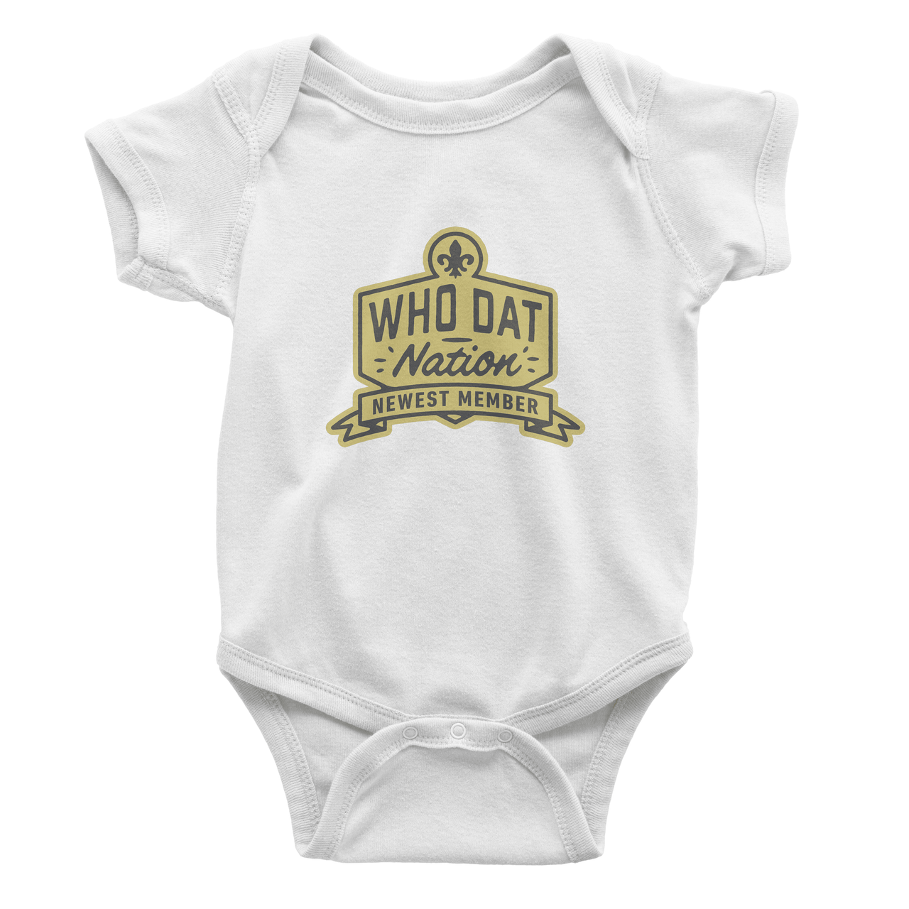 Who Dat Nation Newest Member Onesie